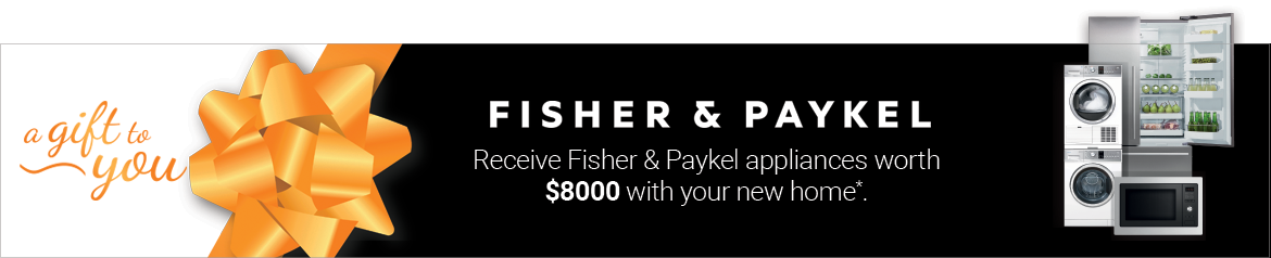Beachwood Homes Special Offer - free Fisher and Paykel appliances