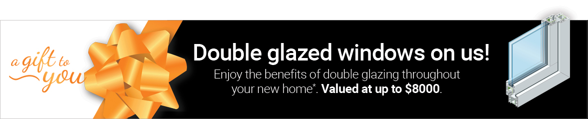 Free double glazing with your new home